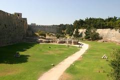 Medeltida stad av Rhodes Arkivfoto