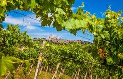 Medeltida stad av San Gimignano, Tuscany, Italien Royaltyfria Bilder