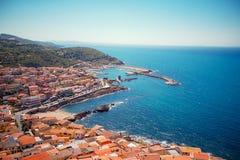 Medeltida stad Castelsardo, Sardinia, Italien Arkivfoto