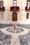 Medeltida stad för berg i Spanien Royaltyfri Fotografi