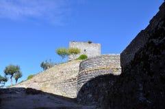 Medeltida stad för Orem slott, Portugal Arkivfoto