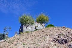 Medeltida stad för Orem slott, Portugal Royaltyfri Fotografi