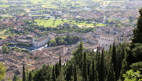 Medeltida stad Gubbio i Umbria Arkivfoto