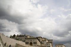 Medeltida stad i Italien Fotografering för Bildbyråer