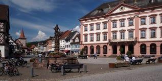 Medeltida stad i Tyskland Arkivbilder