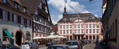Medeltida stad i Tyskland Arkivbild