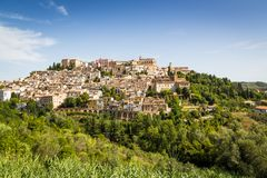 Medeltida stad Loreto Aprutino, Abruzzo, Italien Royaltyfria Foton