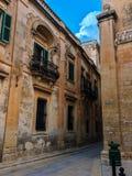 Medeltida stad Medina i Malta Arkivbilder