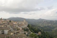Medeltida stad nära Perugia Italien Royaltyfri Foto