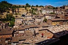 Medeltida stad Urbino i Italien Arkivfoto
