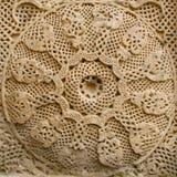 medeltida sten för korsdetalj Royaltyfri Fotografi