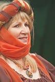 medeltida stående för lady Arkivfoto