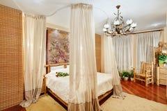 medeltida stil för sovrum royaltyfri foto