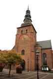 Medeltida Sts Mary kyrka, Ystad, Sverige royaltyfri bild