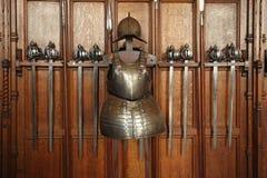 Medeltida svärd och armorment Royaltyfria Bilder
