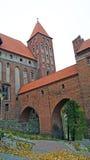 Medeltida Teutonic slott i Kwidzyn Arkivfoton