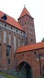 Medeltida Teutonic slott i Kwidzyn Arkivbilder