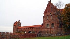 Medeltida Teutonic slott i Kwidzyn Arkivfoto