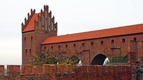 Medeltida Teutonic slott i Kwidzyn Royaltyfri Fotografi