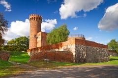 Medeltida Teutonic slott i Polen Fotografering för Bildbyråer
