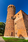 Medeltida Teutonic slott i Polen Arkivfoto