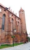 Medeltida Teutonic slott i Polen Royaltyfria Foton