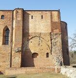 Medeltida Teutonic slott i Polen Arkivbilder