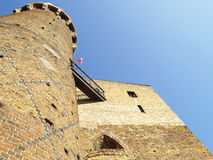 Medeltida Teutonic slott i Polen Royaltyfria Bilder