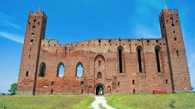 Medeltida Teutonic slott i Radzyn Chelminski Arkivbilder