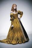 medeltida tider för lady Arkivbilder