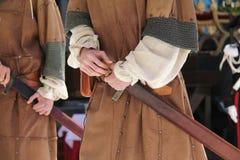 Medeltida tider för soldat Royaltyfria Bilder