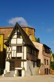 medeltida timmer för inramnintt hus royaltyfri foto
