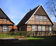Medeltida timmer som inramar huset germany Quakenbrueck Royaltyfri Bild