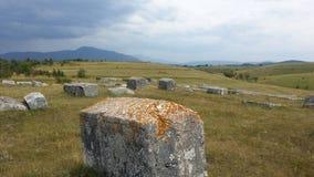Medeltida tombstones Royaltyfri Fotografi