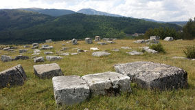 Medeltida tombstones Royaltyfri Foto
