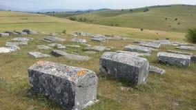 Medeltida tombstones Arkivfoto