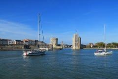 Medeltida torn av La Rochelle, Frankrike Arkivbild