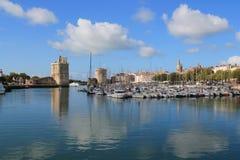Medeltida torn av La Rochelle, Frankrike Arkivbilder