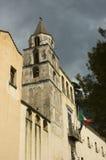 medeltida torn för klocka Royaltyfria Bilder