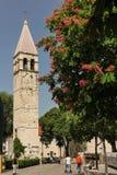 medeltida torn för klocka split croatia fotografering för bildbyråer