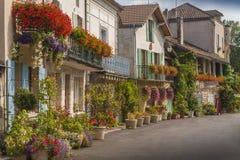 Medeltida town av Brantome Royaltyfri Bild