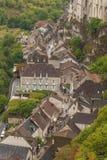 Medeltida town av Rocamadour, Frankrike Arkivfoton