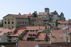 medeltida town för cremieu Fotografering för Bildbyråer