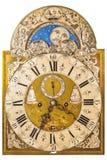 Medeltida tysk klocka som isoleras på vit Arkivfoto