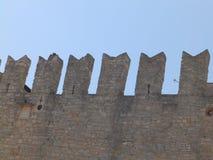 Medeltida vägg av Novigrad/Cittanova, Istria, Kroatien, Europa royaltyfri foto