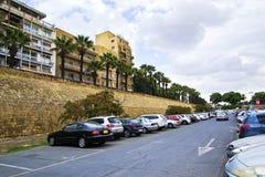 Medeltida väggar av Lefkosia Nicosia Cypern Royaltyfri Fotografi