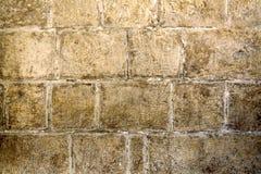 Medeltida väggbakgrund i Malta Arkivfoto