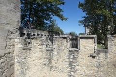 Medeltida vallar i Avignon, Frankrike Arkivfoton
