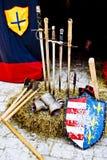 medeltida vapen Royaltyfri Bild