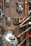 medeltida vapen Fotografering för Bildbyråer